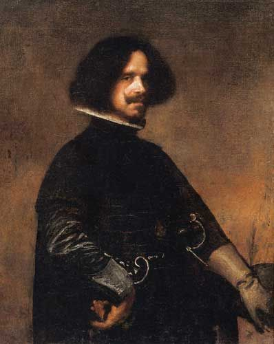 Diego Velázquez (Spanish 1599–1660) [Baroque] Self-portrait, circa 1640. [Detail] Oil on canvas, 45 × 38 cm (17.7 × 15 in). Real Academia de Bellas Artes de San Carlos de Valencia.