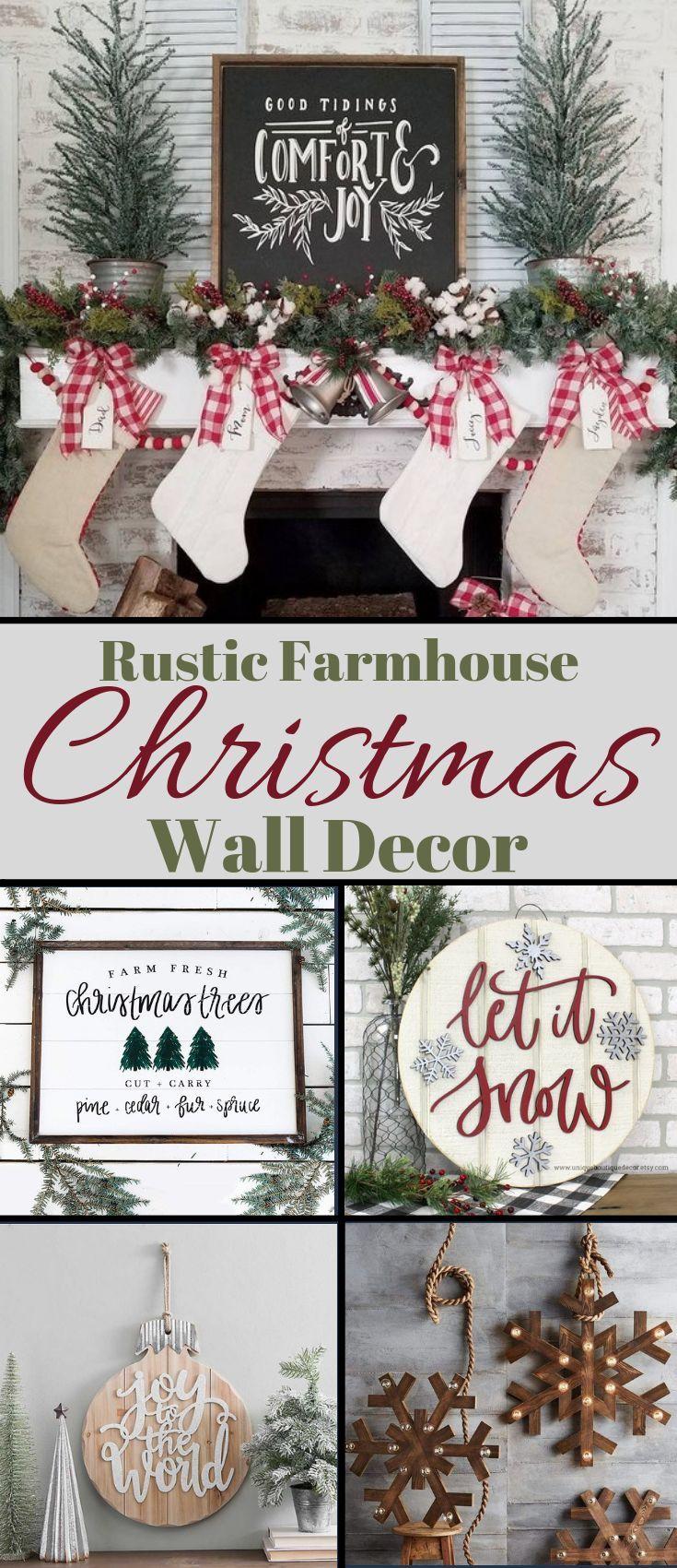 Rustic Farmhouse Christmas Wall Decor My Cozy Colorado Christmas Wall Decor Farmhouse Christmas Christmas Decorations Rustic