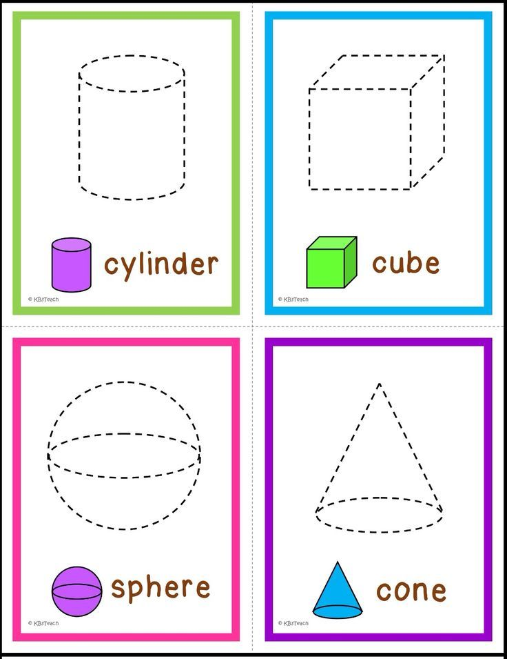 2D & 3D Shapes: Trace & name the shapes (Write & Wipe Cards). Six sets of flashcards; varying levels of difficulty.