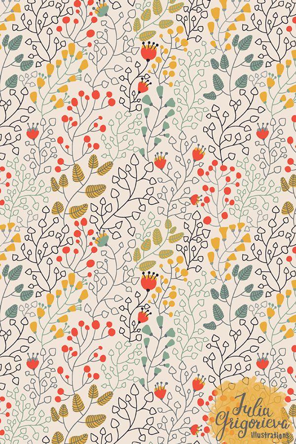 Floral pattern by Julia Grigorieva