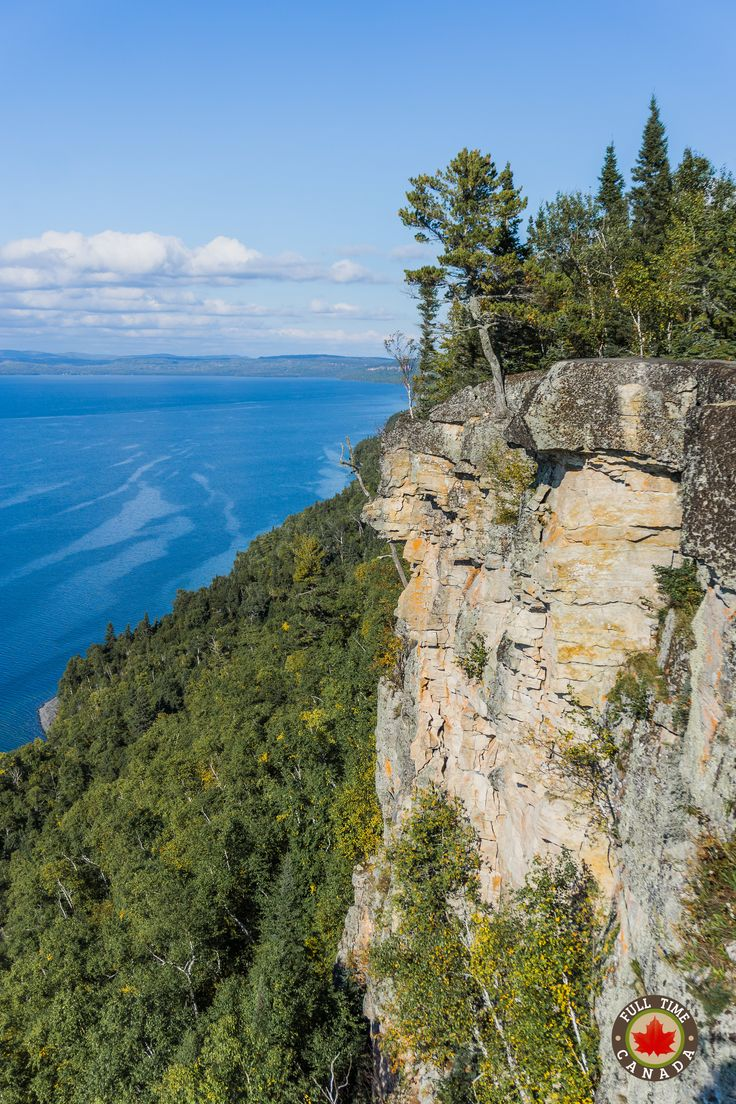 View from the Thunder Bay Lookout  in Sleeping Giant Provincial Park.