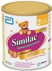 """Симилак 2 Гипоаллергенный смесь сухая молочная для детей 400г  — 726р.  Similac 2 гипоаллергенный  Каждая мама хочет, чтобы ее малыш вырос здоровым, умным и красивым. В материнском грудном молоке содержится все самое необходимое для развития здорового малыша. Но по некоторым причинам иногда грудное вскармливание просто невозможно, для этого специалисты разработали детское питание.  Испанская компания """"Abbot"""" представляет свою продукцию, подходящую для питания малышей с самого его рождения…"""