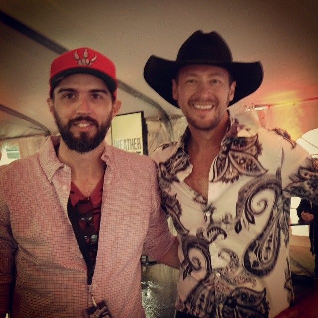Thanks to Paul Brandt for stopping by for a quick hello and photo on Friday at Boots & Hearts