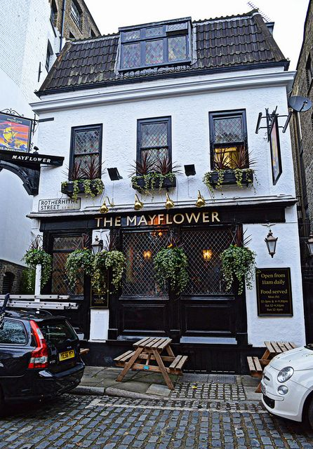 The Mayflower Inn, Rotherhithe, London, UK  The oldest pub on the River Thames