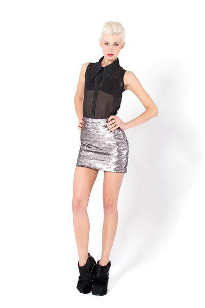 Nixie Oyster Skirt, $200AUD