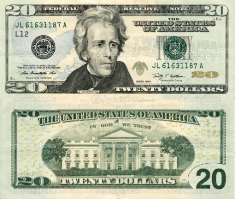 Best Photos of 20 Dollar Bill Template
