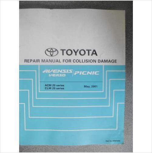 Toyota Picnic / Avensis Verso Collision Damage Manual 01 BRM105E on eBid United Kingdom