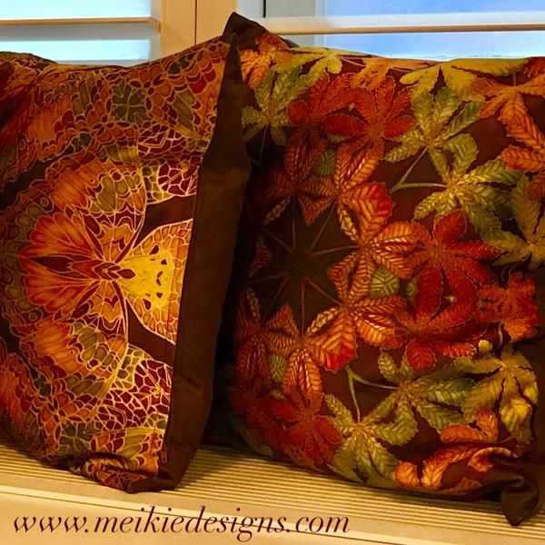 Lush Velvet Cushions brand new design in Rich Autumnal colours for this beautiful Season https://meikiedesigns.com/collections/cushions/products/lush-velvet-leaves-cushion-green-terracotta-leaves-pillow-kaleidascope-leaves-velvet-cushion-by-meikie