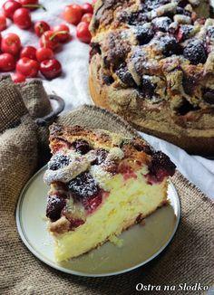 ciasto z truskawkami , ucierane z truskawkami , z truskawkami na kefirze , ciasto ucierane z owocami , ostra na slodko , latwe przepisy , sylwia ladyga (2)x