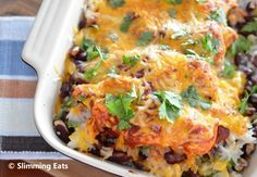 Spicy Mexican Chicken Bake | Slimming Eats - Slimming World Recipes