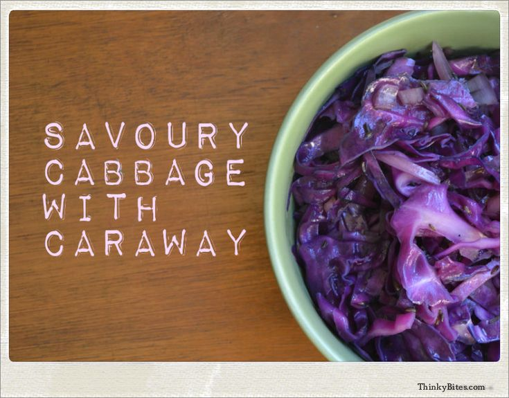 Savoury Cabbage with Caraway — Thinky Bites