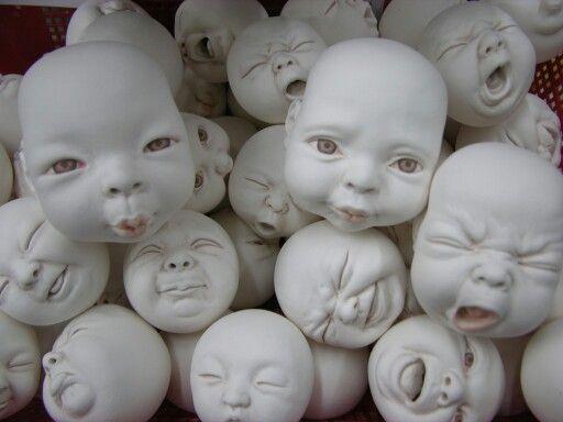 Johnson Tsang ceramic art work..baby face