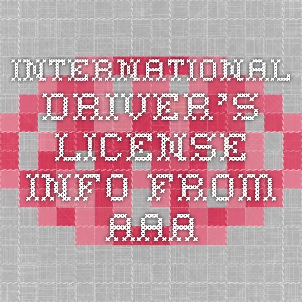 International Driver's License info from AAA