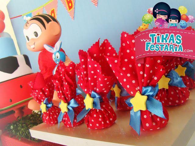 Blog da Tikas Festaria * Festas Infantis Personalizadas * Provençal e Clean *: Gabriel e seus amigos da Turma da Mônica