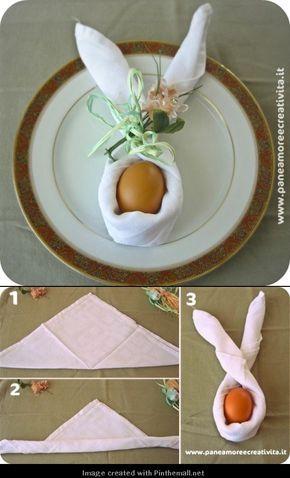 Osterei als osterhase verkleiden und zur Tischdeko nutzen. Wenn ihr noch einen Namen draufschreibt, habt ihr auch gleich eine Platzkarte.
