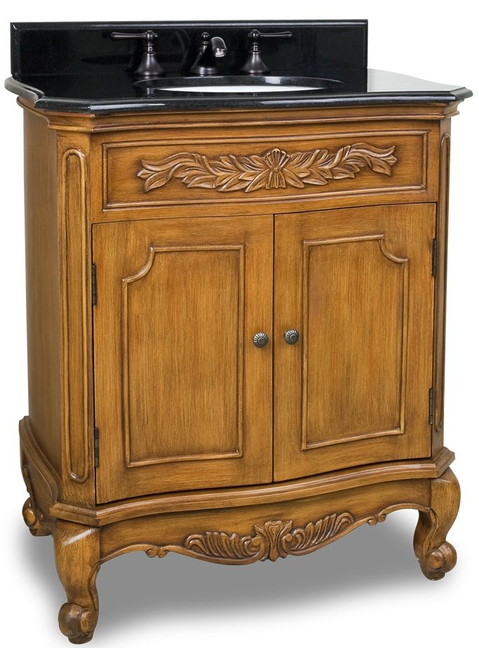 30 1 2 Quot Warm Caramel Single Vanity W Granite Top