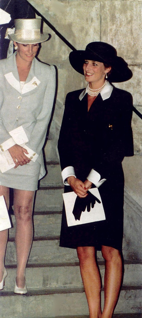 Diana and Sophie Rhys-Jones, future Countess of Wessex