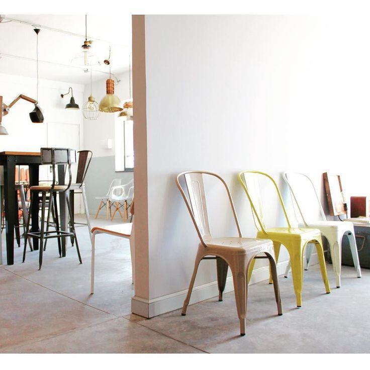 83 melhores imagens de sillas tolix industrial no - Mobiliario estilo industrial ...