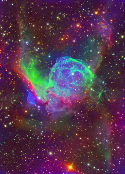 Thor's Helmet Nebula (also known as NGC 2359) is an emission nebula in the constellation Canis Major.
