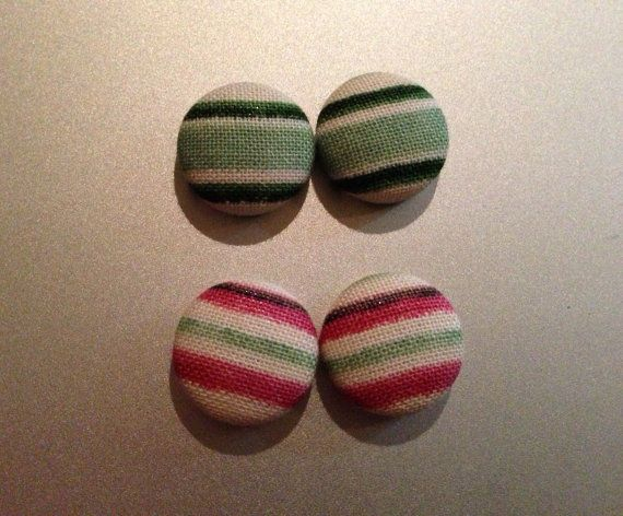 Small Patterned Button Earrings by KatieHootie on Etsy, $5.00