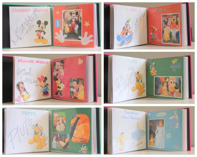 make your own autograph book for Disney World...Later it becomes a scrapbook!  Such a cute idea. I like how you can add notes to the pages down the road.