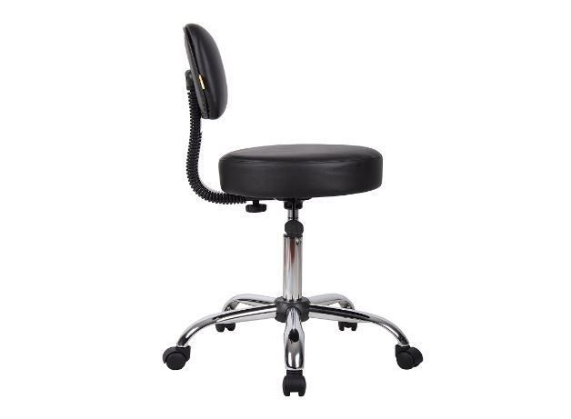 Desk Chairs with Wheels Medical Exam Stool Adjustable Stool with Back Doctor Bos #BossOfficeProducts #Custom