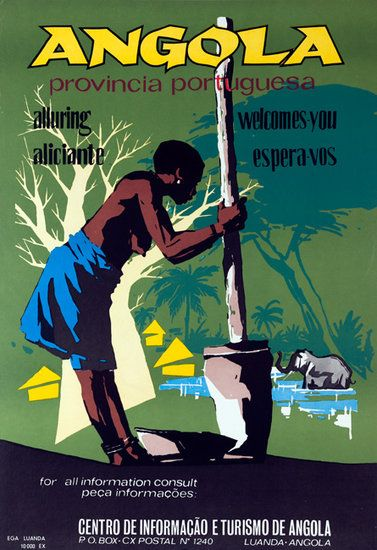 vintage african posters | DP Vintage Posters - Angola Alluring Provincial Portugesa Original ...