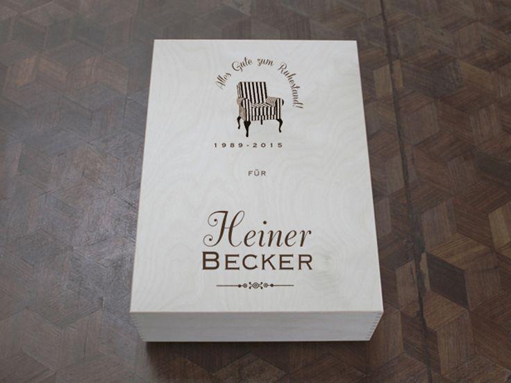 Weiteres - Glückwunschkiste zum Dienstjubiläum oder Ruhestand - ein Designerstück von Die-WeinStein-Kiste bei DaWanda