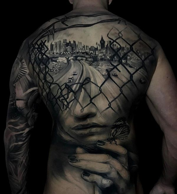 Amazing full back tattoo  - 100 Awesome Back Tattoo Ideas