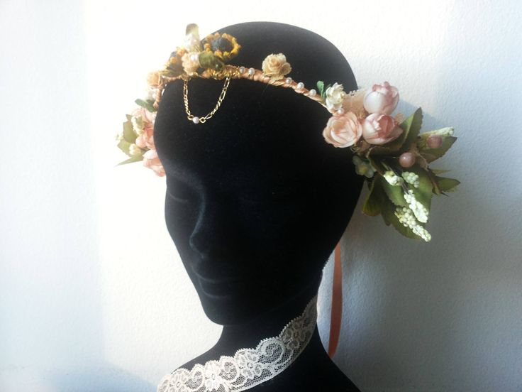 #Preraphaelite #Crown - #Headpiece style#2 by Cristina Biella (www.facebook.com/elanorsoulcreativity) #headdress #elanorlightart