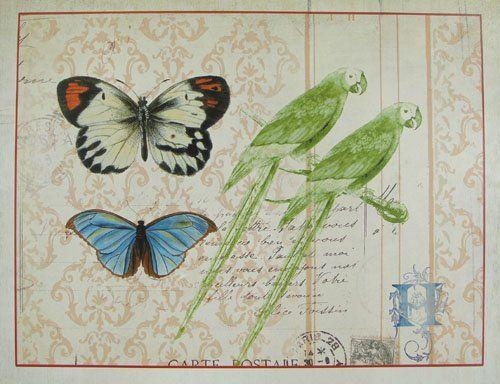 Butterflies and Birds Metal Distressed Perpetual Calendar