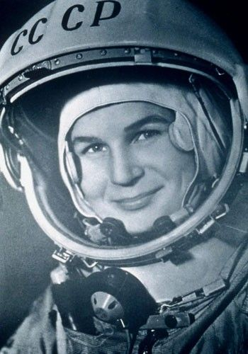 First woman in space. In 1963, former textile worker Valentina Tereshkova became the first woman to travel to space. The 26-year-old Russian was the fifth cosmonaut to go into the Earth's orbit.