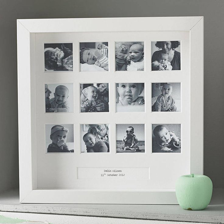 personalised 'my first year' square frame by posh totty designs interiors | notonthehighstreet.com