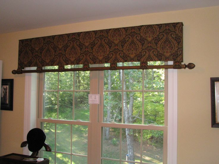 Reverse Tabbed Valance With Pole On Hem Valance Is
