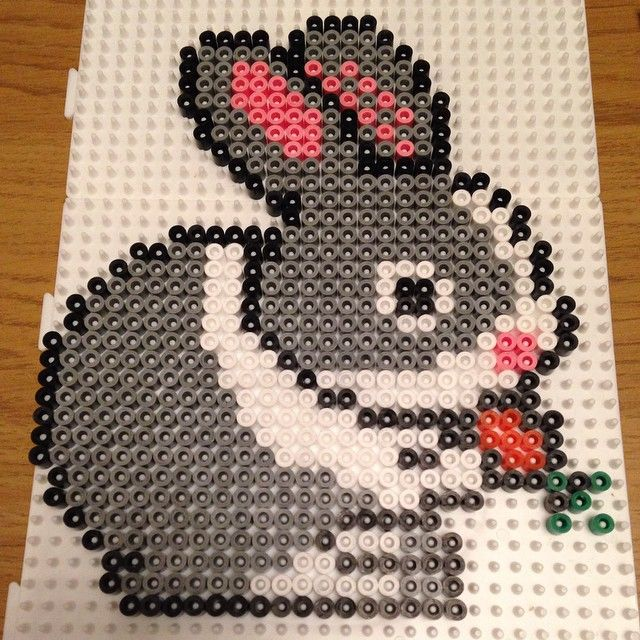 Bunny hama beads by meandrandom
