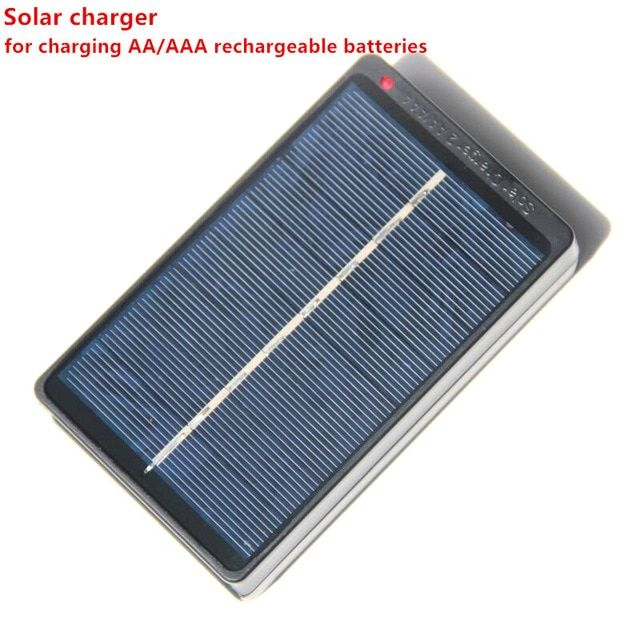 S0912 Portable Solar External Battery Charger Batteries For 2 Aa Aaa 1 2v Travel Backup Battery Power B External Battery Charger External Battery Solar Charger