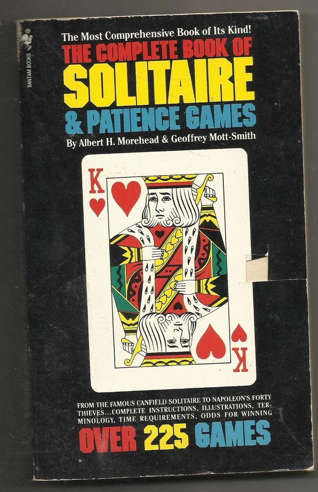 Vintage 1977 The Complete Book of Solitaire & Patience Games Paperback Book
