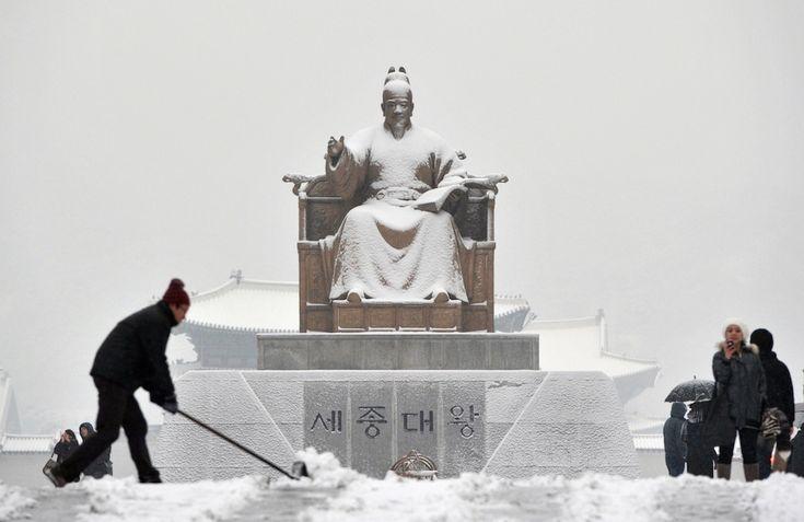 il neve in Corea del Sud!!