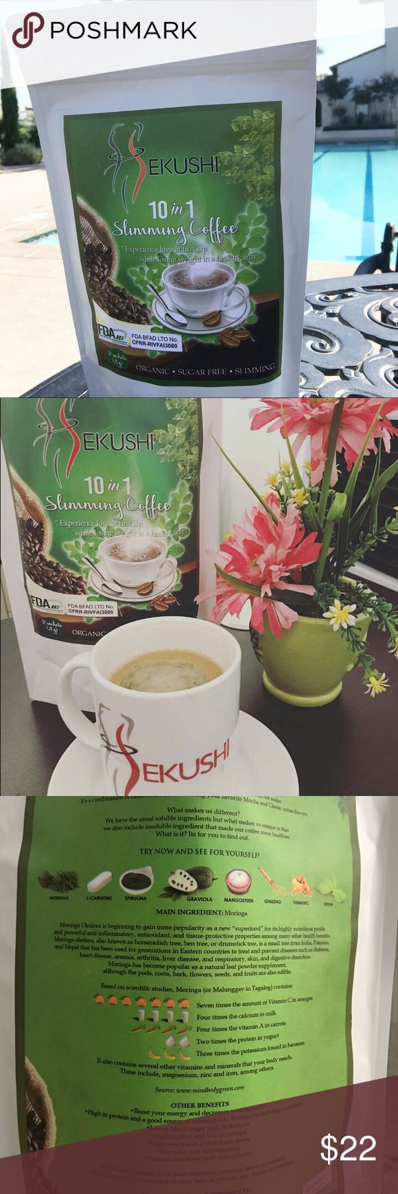 Japanese product Sekushi Slimming Coffee 10 in 1 slimming coffee! Organic sugarfree slimming / 12 sachets Other