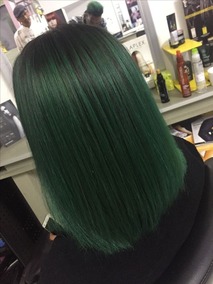 Trendy Ideas for pastel green hair black girl Green Hair Ombre, Pastel Green Hair, Emerald Green Hair, Dark Green Hair, Cute Hair Colors, Green Hair Colors, Nails Short, Coloured Hair, Aesthetic Hair