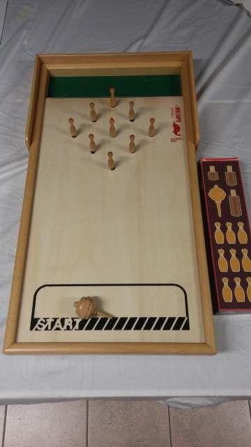 Tisch-kegelspiel, gioco in legno della Mespi 2