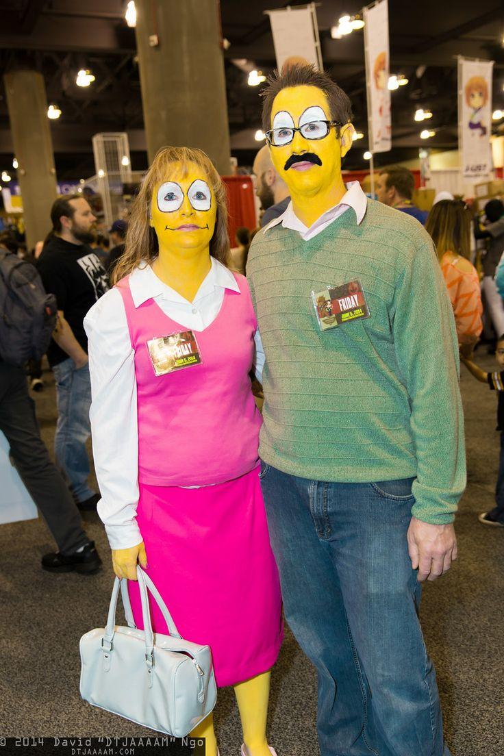 Maude Flanders And Ned Flanders Cosplay Phoenix Comicon