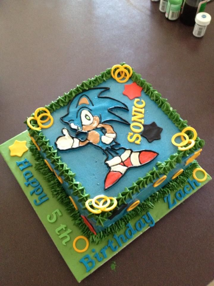 Boys Birthday Cake Sonic the Hedgehog cake