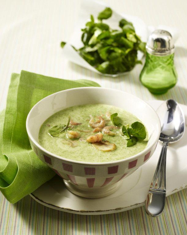 Unser beliebtes Rezept für Brunnenkresse-Cremesuppe mit Krabben und Champignons und mehr als 55.000 weitere kostenlose Rezepte auf LECKER.de.