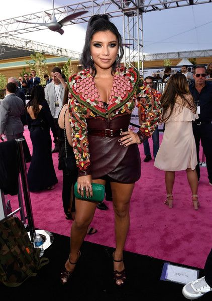 """Singer Kirstin Maldonado poses at SiriusXM's """"Hits 1 in Hollywood"""" red carpet broadcast on SiriusXM's SiriusXM Hits 1 channel before the Billboard Music Awards at the T-Mobile Arena on May 21, 2017 in Las Vegas, Nevada."""