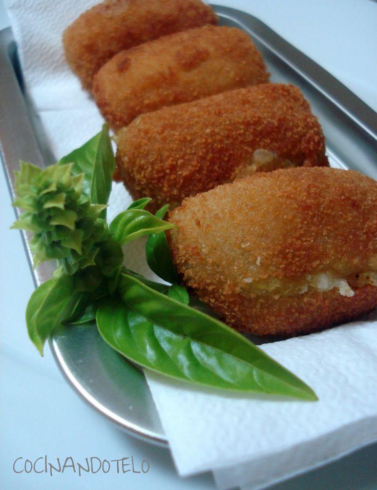 Cocinándotelo: CROQUETAS DE PLATANO MACHO Y QUESO