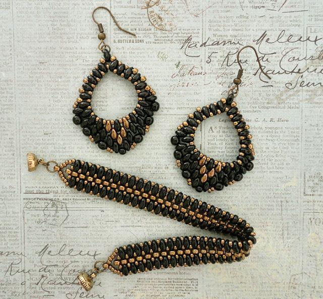 Linda's Crafty Inspirations: Mystery SuperDuo Bracelet & Mini Rondo Earrings