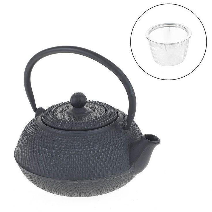 METAL TEA POT IN BLACK COLOR 15X14X14