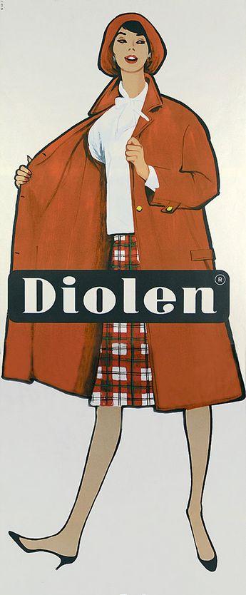 Illustration by René Gruau (1909-2004), 1962, Diolen anprobieren.