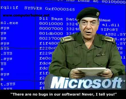 This is stil happening , microsoft says that windows is error free.. but its not.